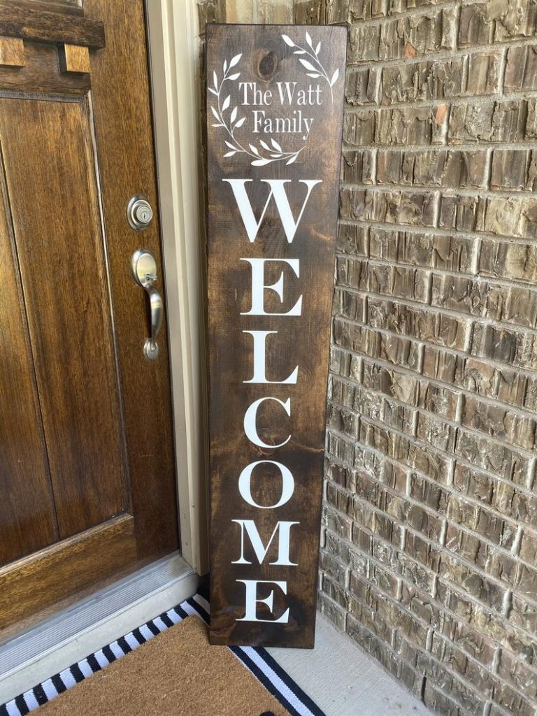 Wooden Home Welcome Sign