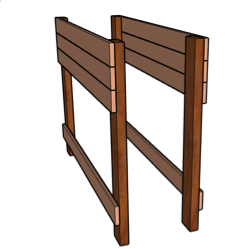 planter box with legs side view