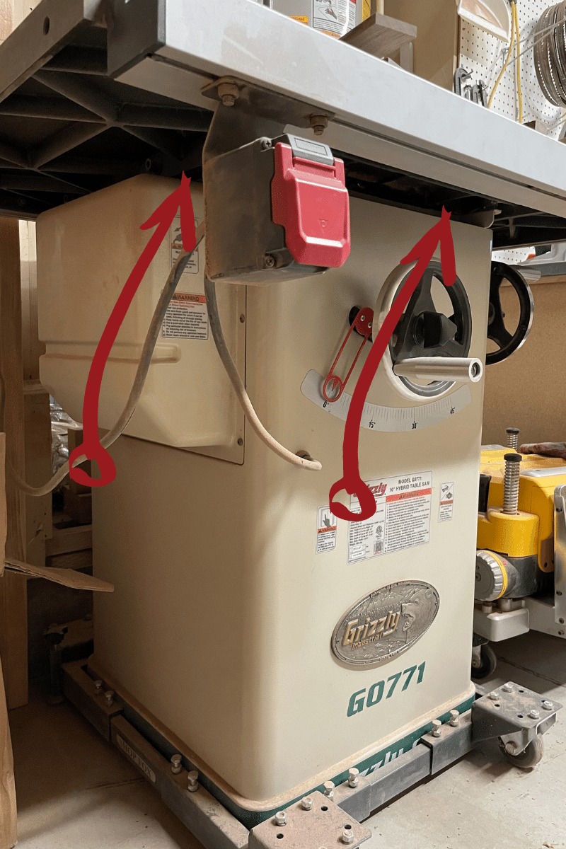 Table Saw Dust Collection Drafts